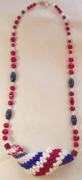One of a kind Patriotic Curl Necklace