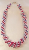Patriotic Dutch Spiral Handmade Beaded Necklace
